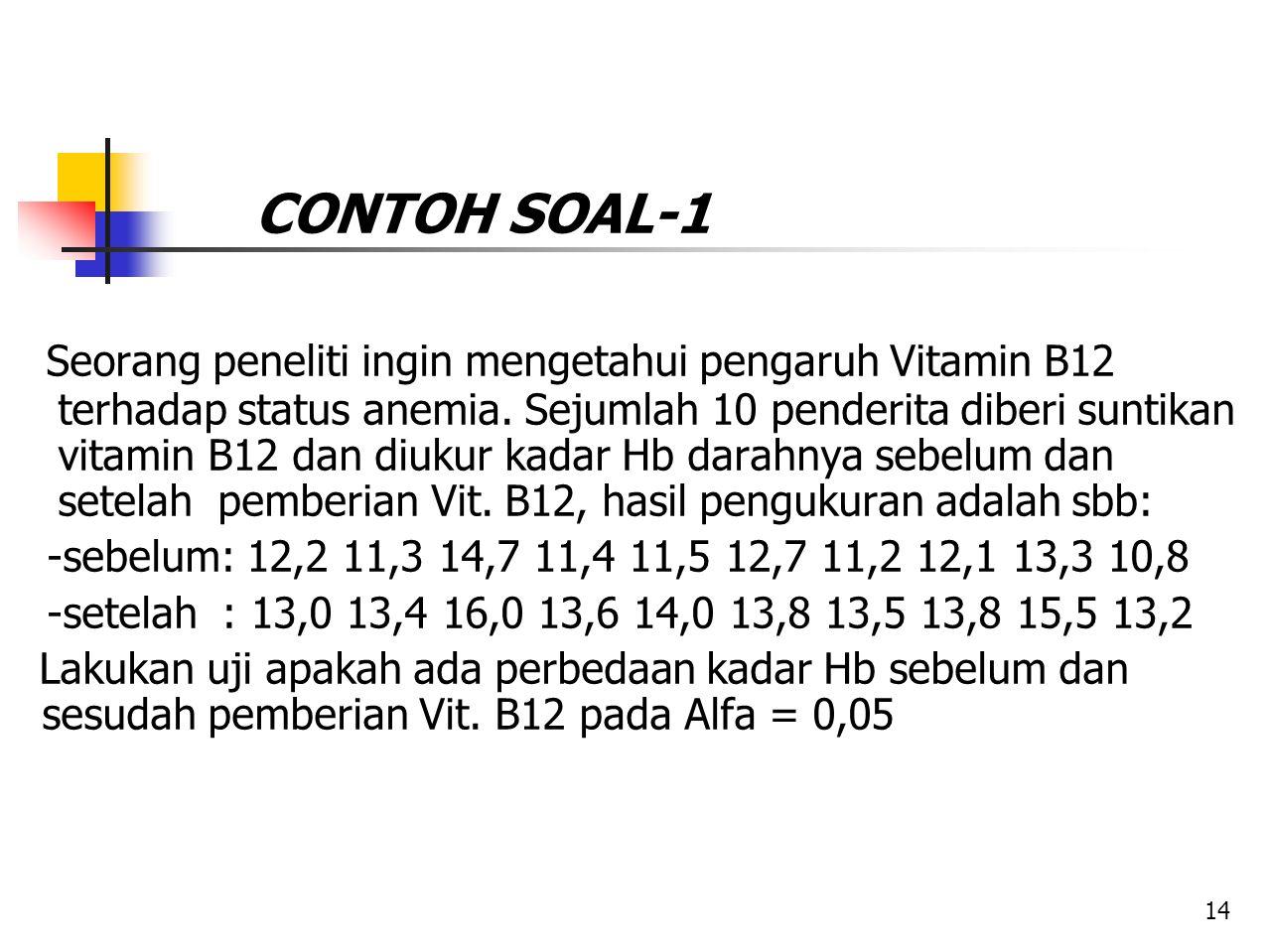 CONTOH SOAL-1