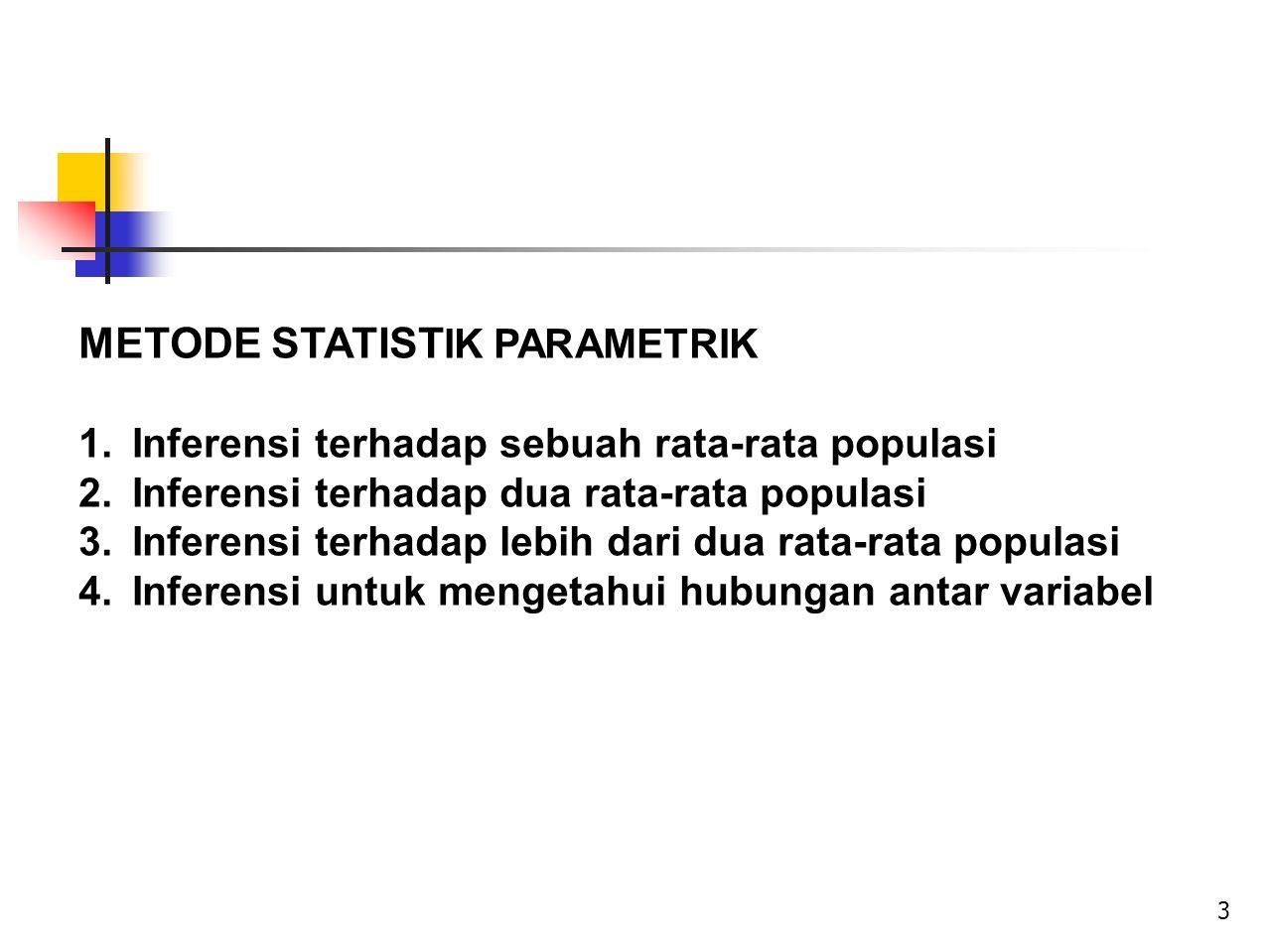 METODE STATISTIK PARAMETRIK