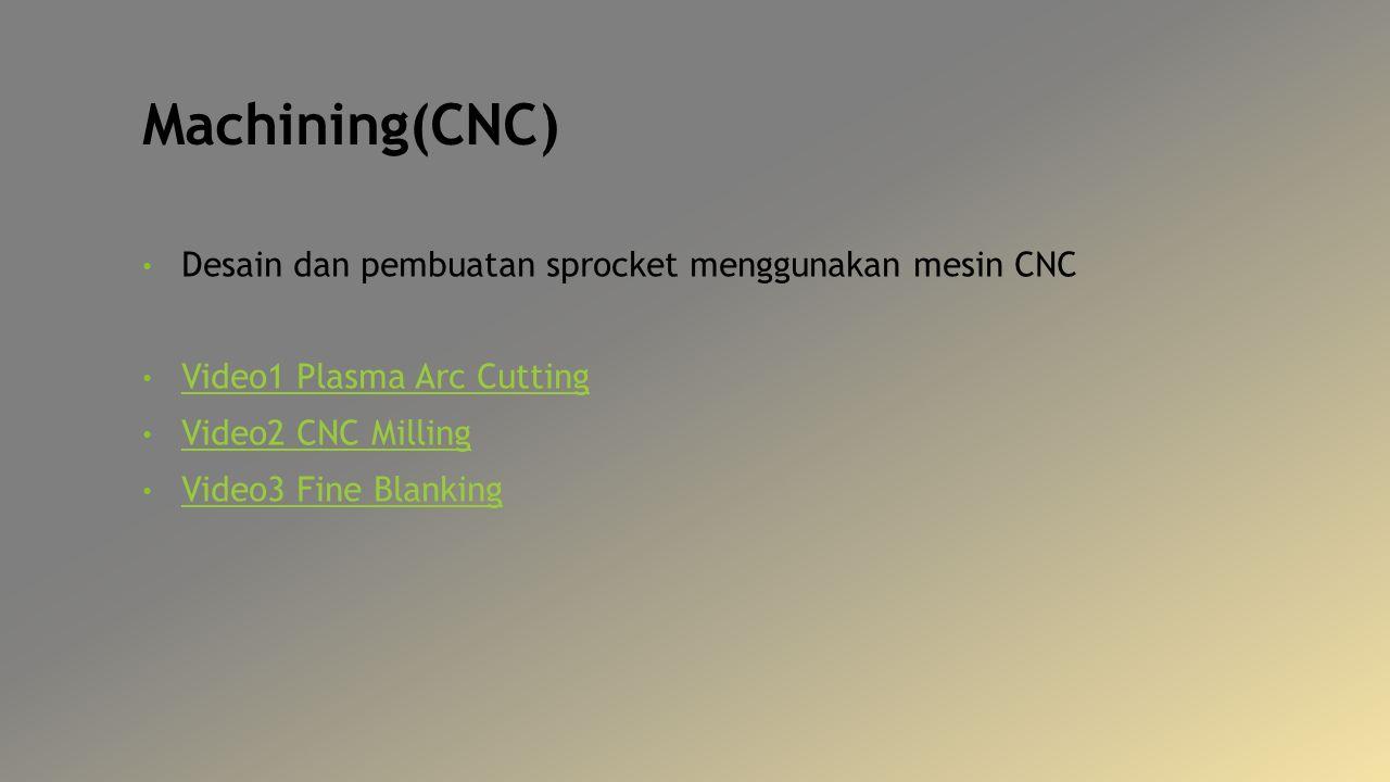 Machining(CNC) Desain dan pembuatan sprocket menggunakan mesin CNC