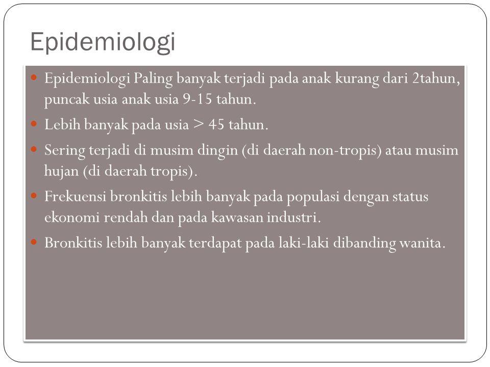 Epidemiologi Epidemiologi Paling banyak terjadi pada anak kurang dari 2tahun, puncak usia anak usia 9-15 tahun.