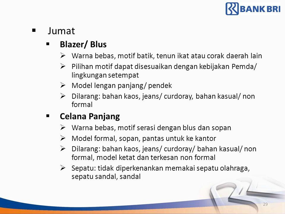 Jumat Blazer/ Blus Celana Panjang
