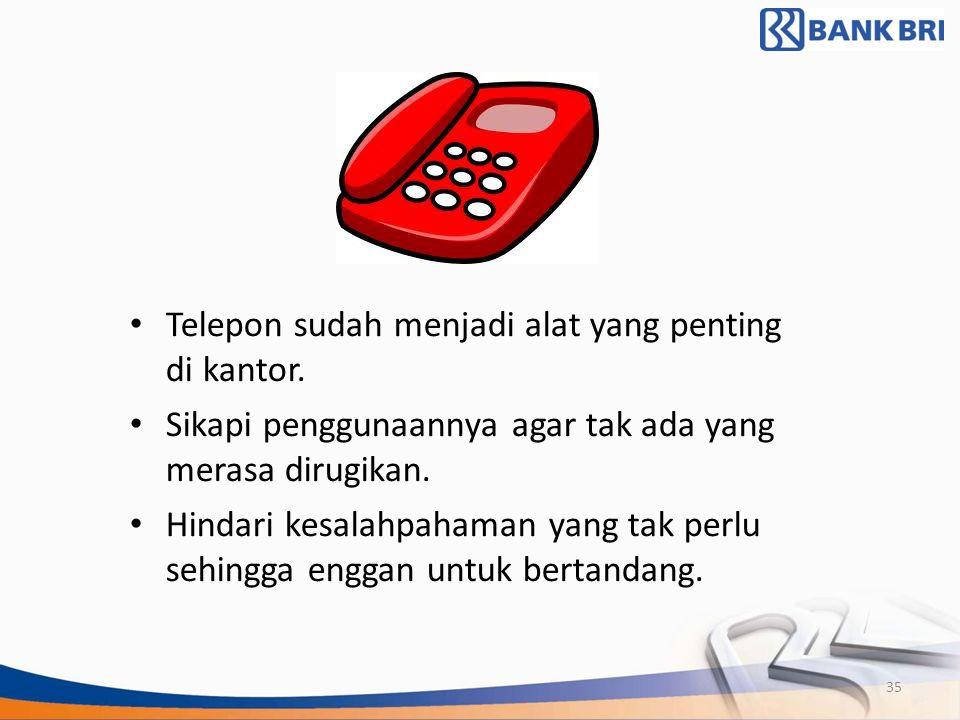 Telepon sudah menjadi alat yang penting di kantor.