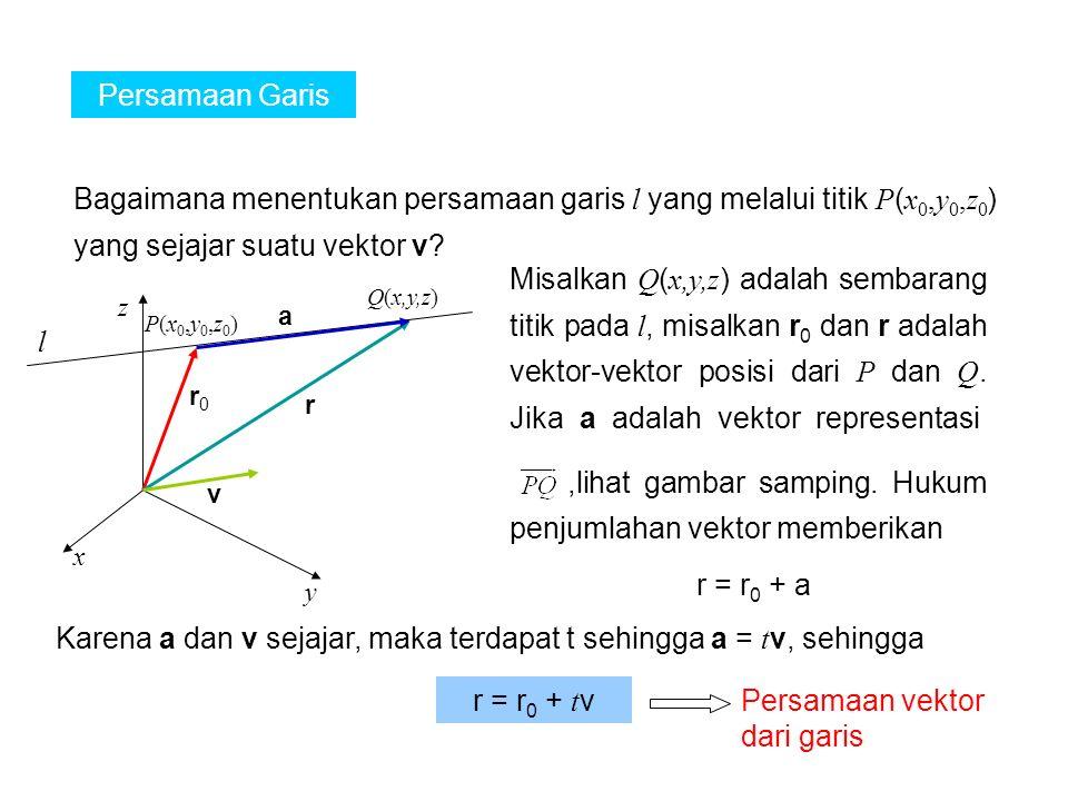 ,lihat gambar samping. Hukum penjumlahan vektor memberikan l