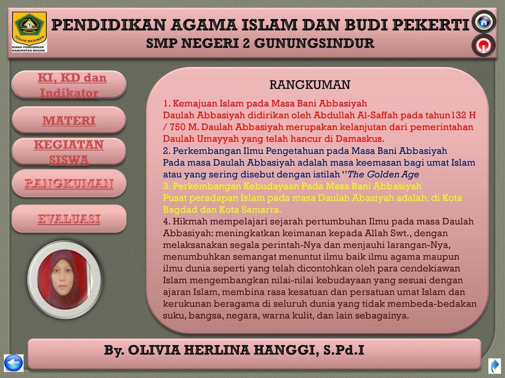 RANGKUMAN 1. Kemajuan Islam pada Masa Bani Abbasiyah