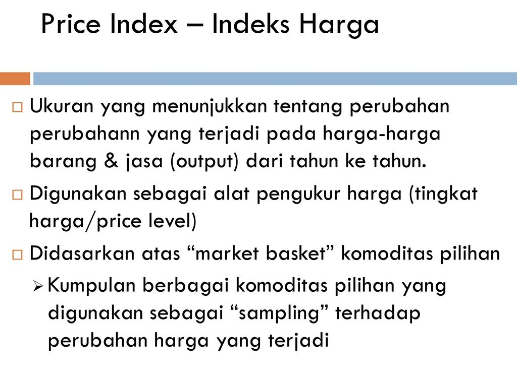 Price Index – Indeks Harga