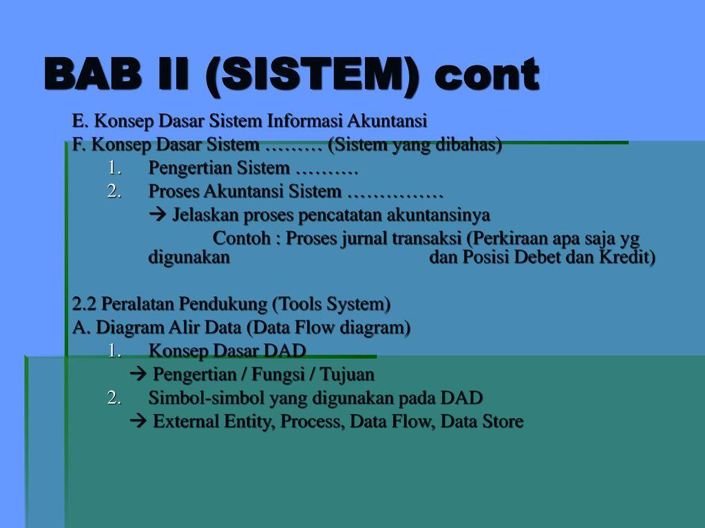 Bimbingan tugas akhir amik bsi periode ii ppt download bab ii sistem cont e konsep dasar sistem informasi akuntansi ccuart Choice Image