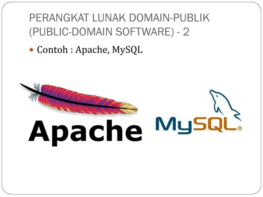 Perangkat Lunak Domain Publik Public Domain Software