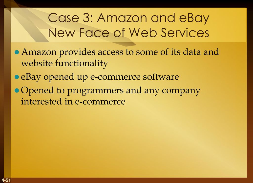 amazon and ebay the new face of web services case study