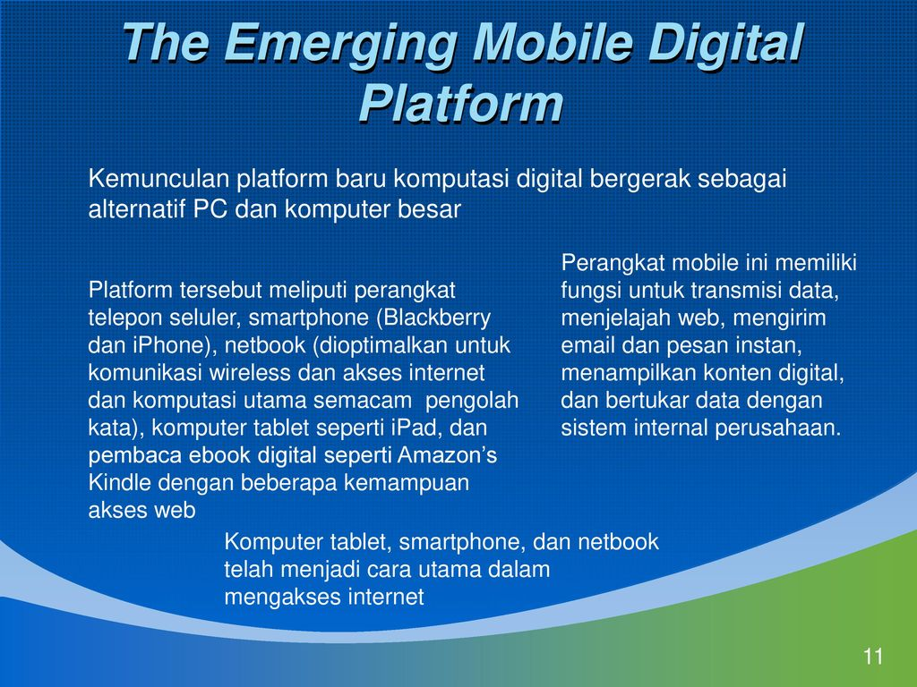 the emerging mobile digital platform