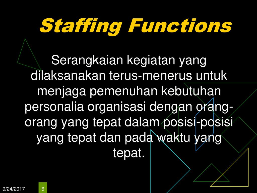 Staffing Functions