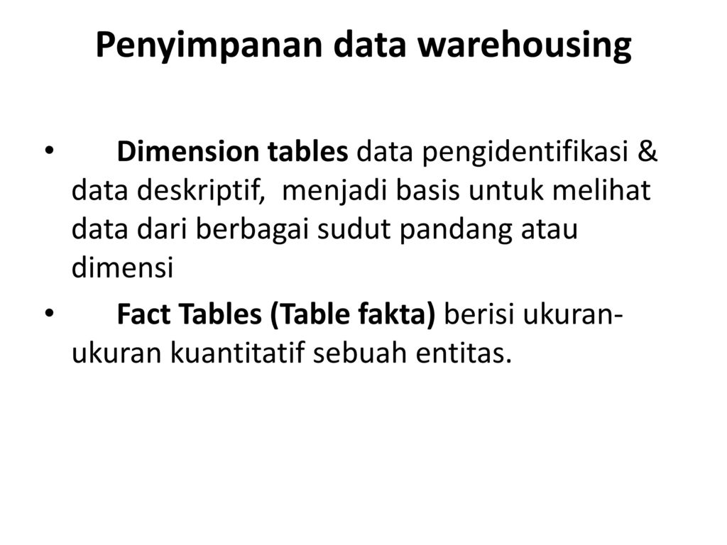 Penyimpanan data warehousing