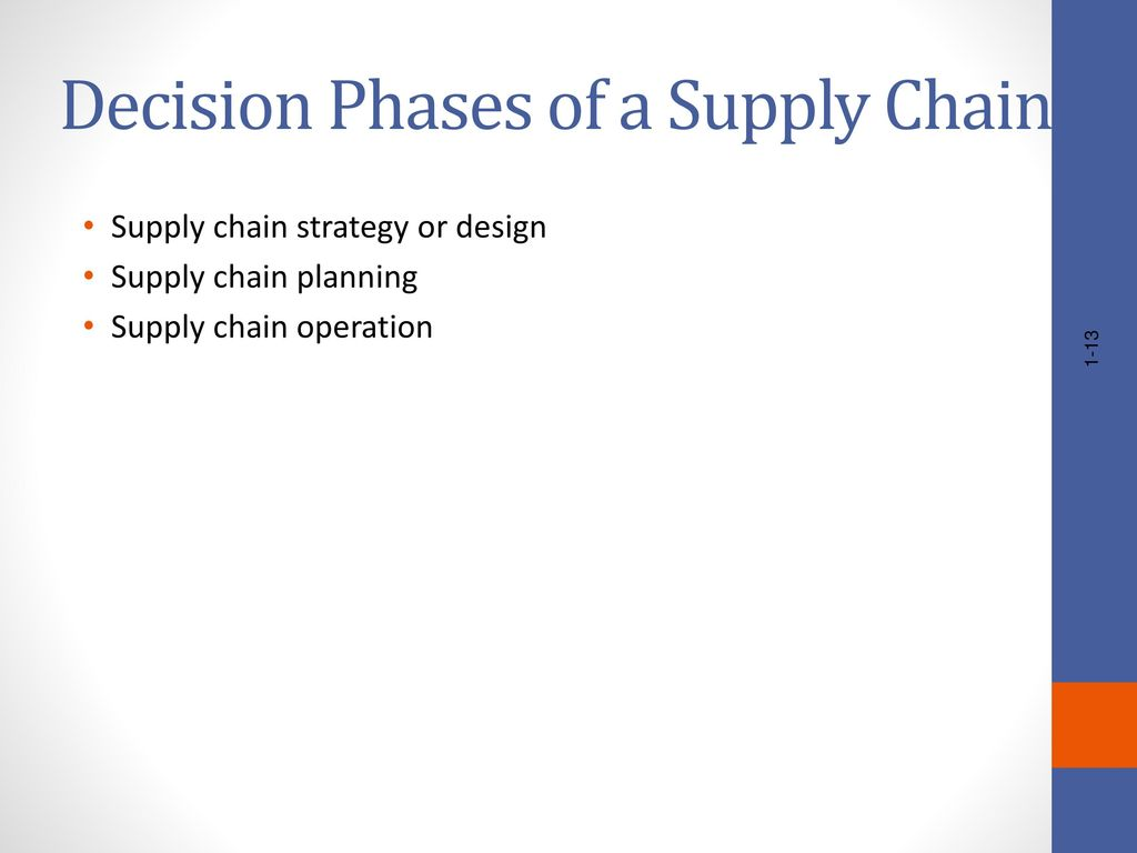 decision phases in supply chain 8-1 outline chapter 8: aggregate planning in the supply chain role of aggregate planning in a supply chain the aggregate planning problem.
