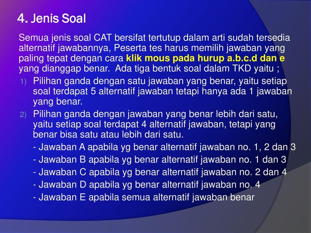 4. Jenis Soal