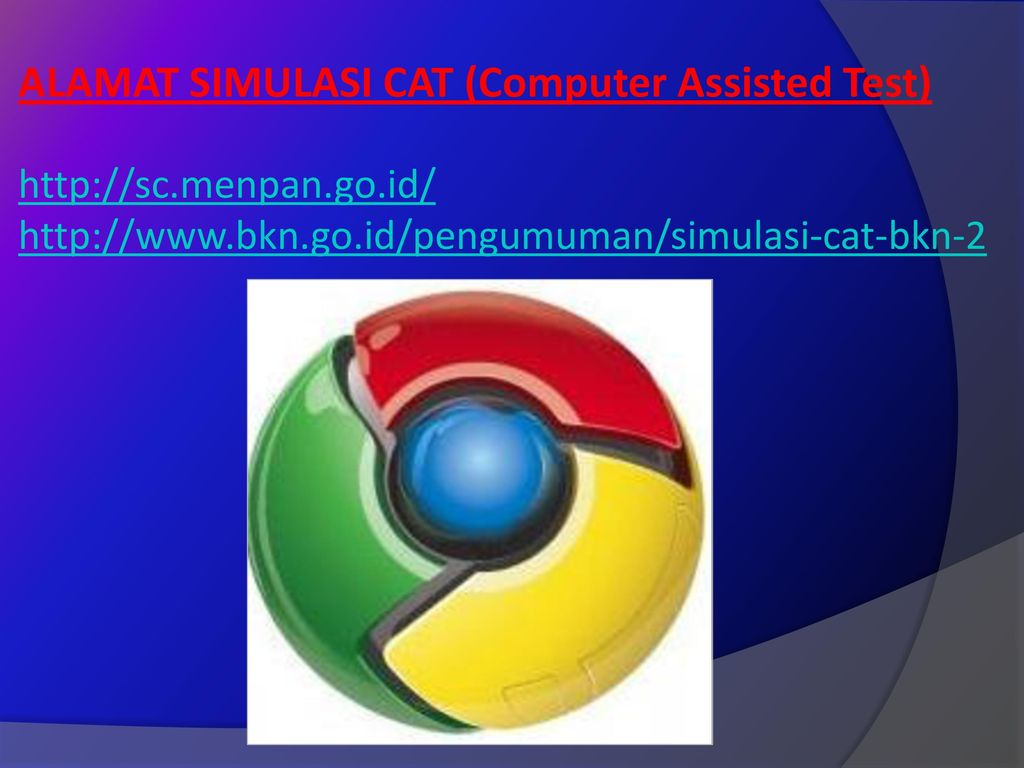 ALAMAT SIMULASI CAT (Computer Assisted Test)