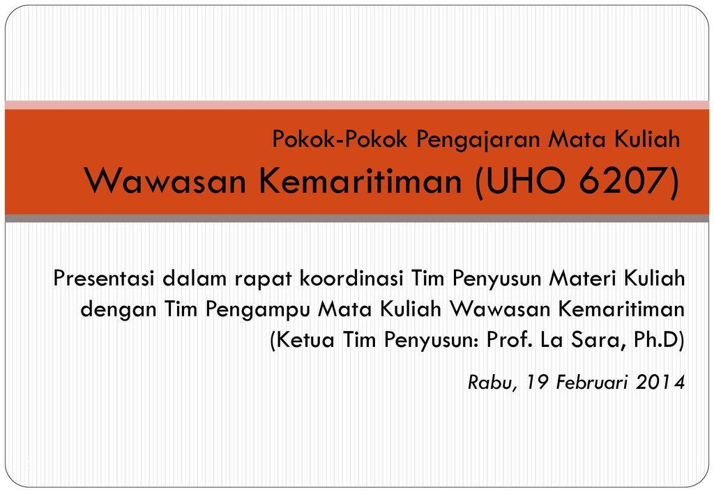 Wawasan Kemaritiman (UHO 6207)