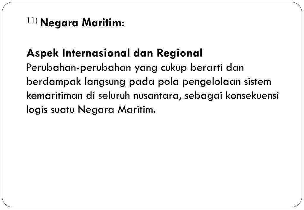 11) Negara Maritim: