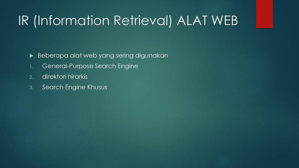 IR (Information Retrieval) ALAT WEB