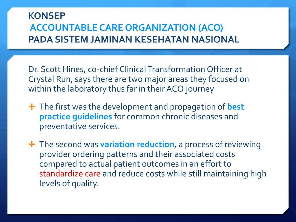 accountable care organization aco