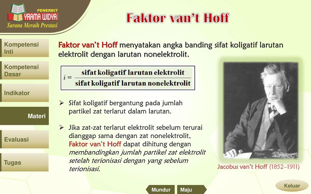 Sifat koligatif larutan ppt download faktor vant hoff faktor vant hoff menyatakan angka banding sifat koligatif larutan ccuart Images
