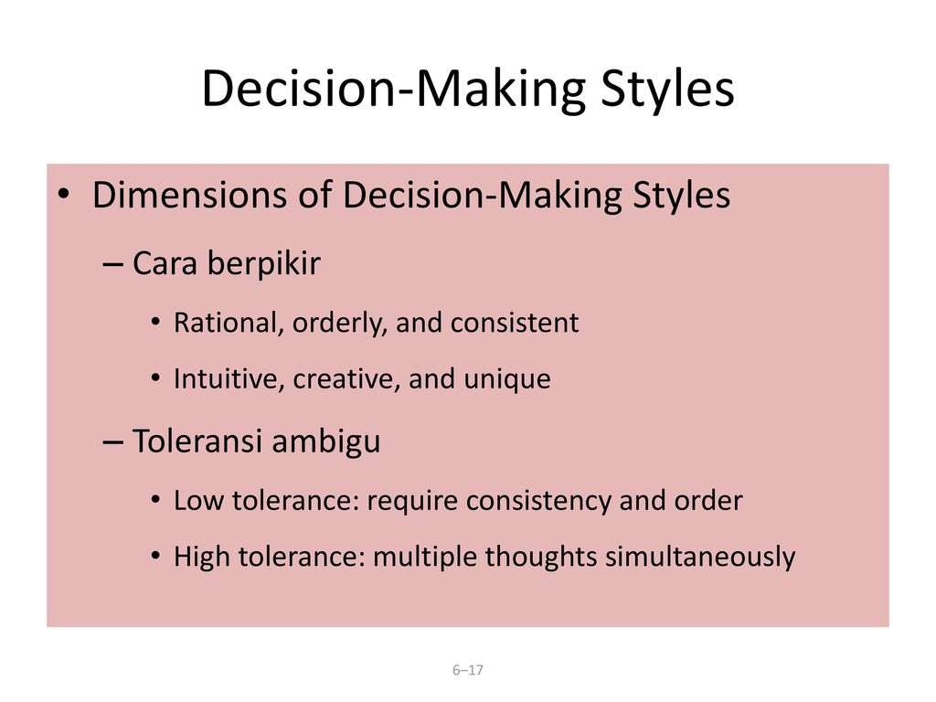 decision making styles