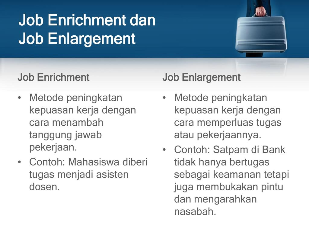 job enrichment enlargement impact on