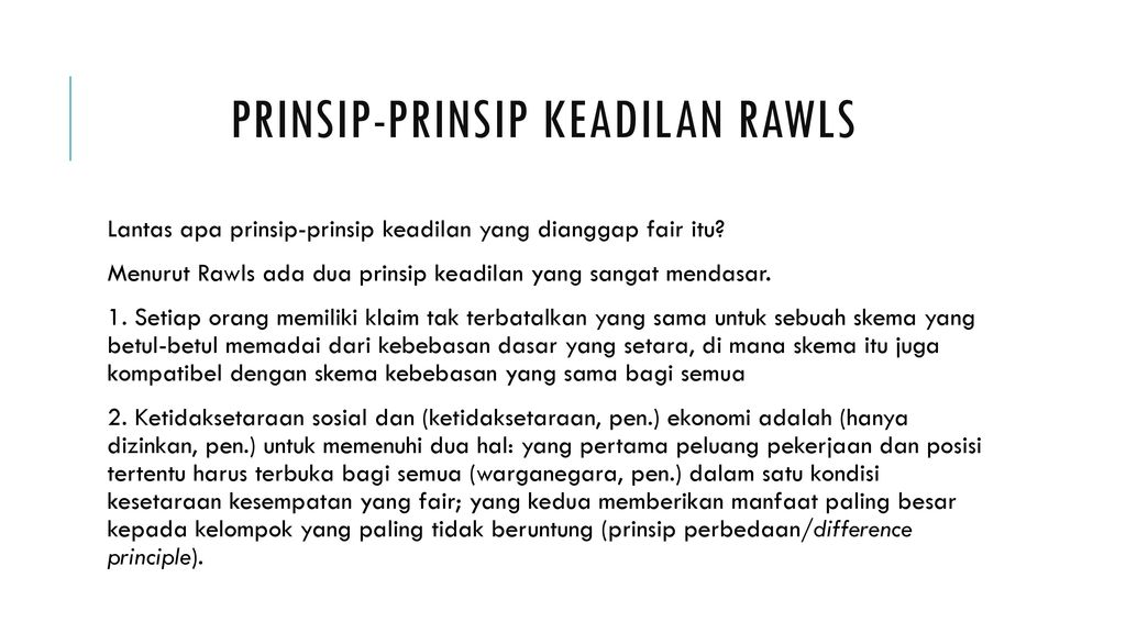 an overview of rawls difference principle