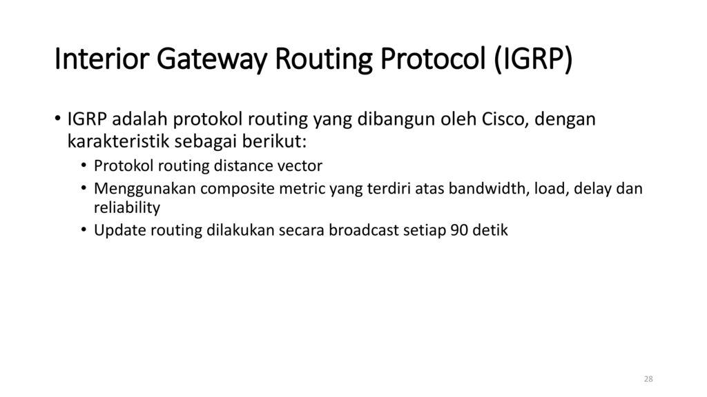 open shortest path first an interior gateway protocol Το open shortest path first (ospf) οι asbr τυπικά τρέχουν και ένα μη-igp (interior gateway protocol), όπως το bgp.
