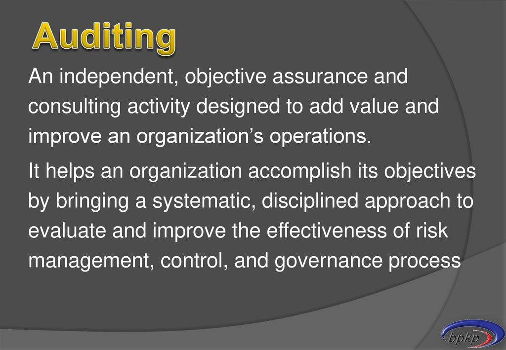audit adding value to an organization s