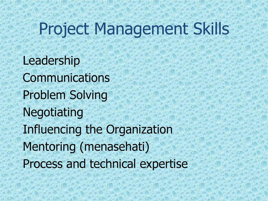 Project Management Problem Solving