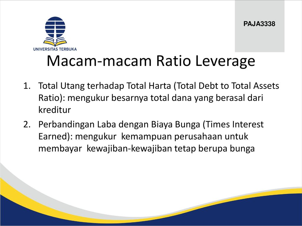 Macam-macam Ratio Leverage