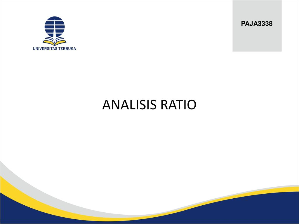 PAJA3338 ANALISIS RATIO