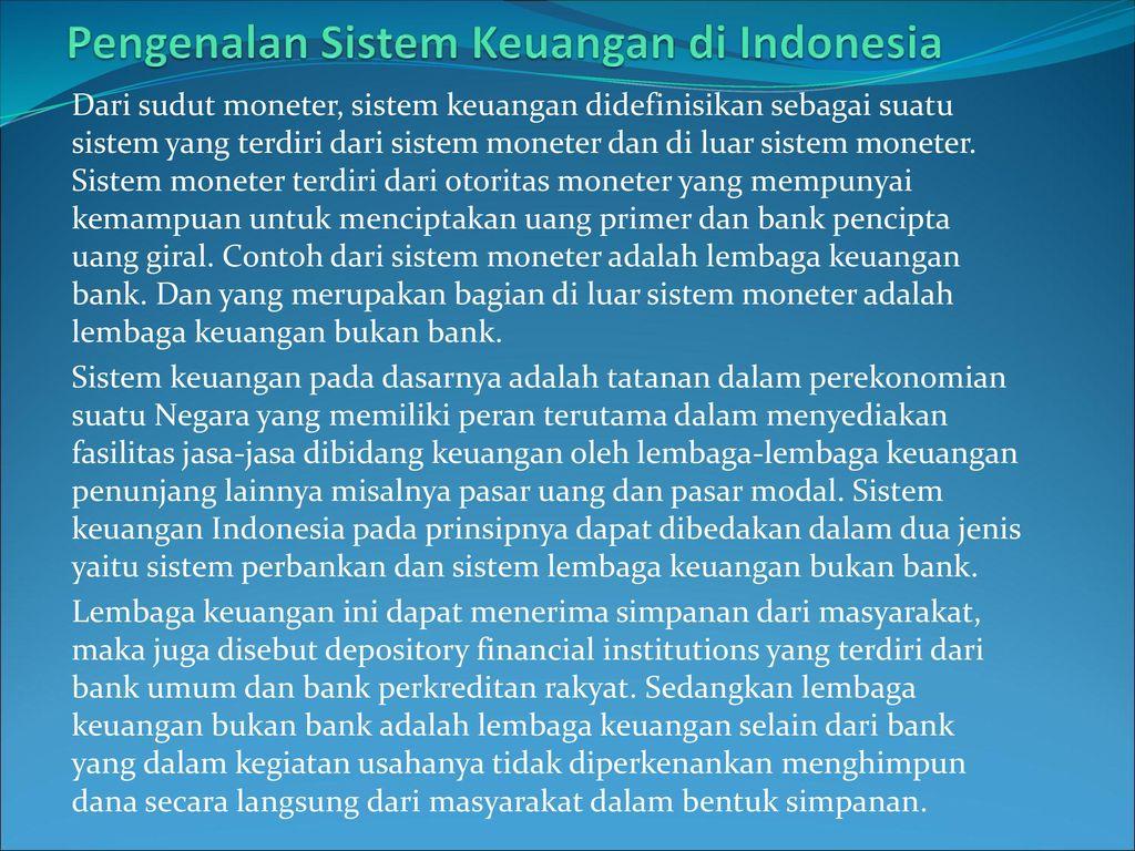 Pengenalan Sistem Keuangan di Indonesia