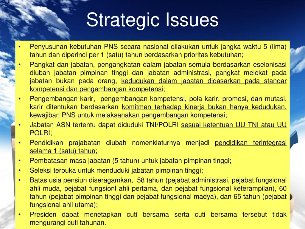 strategic issues
