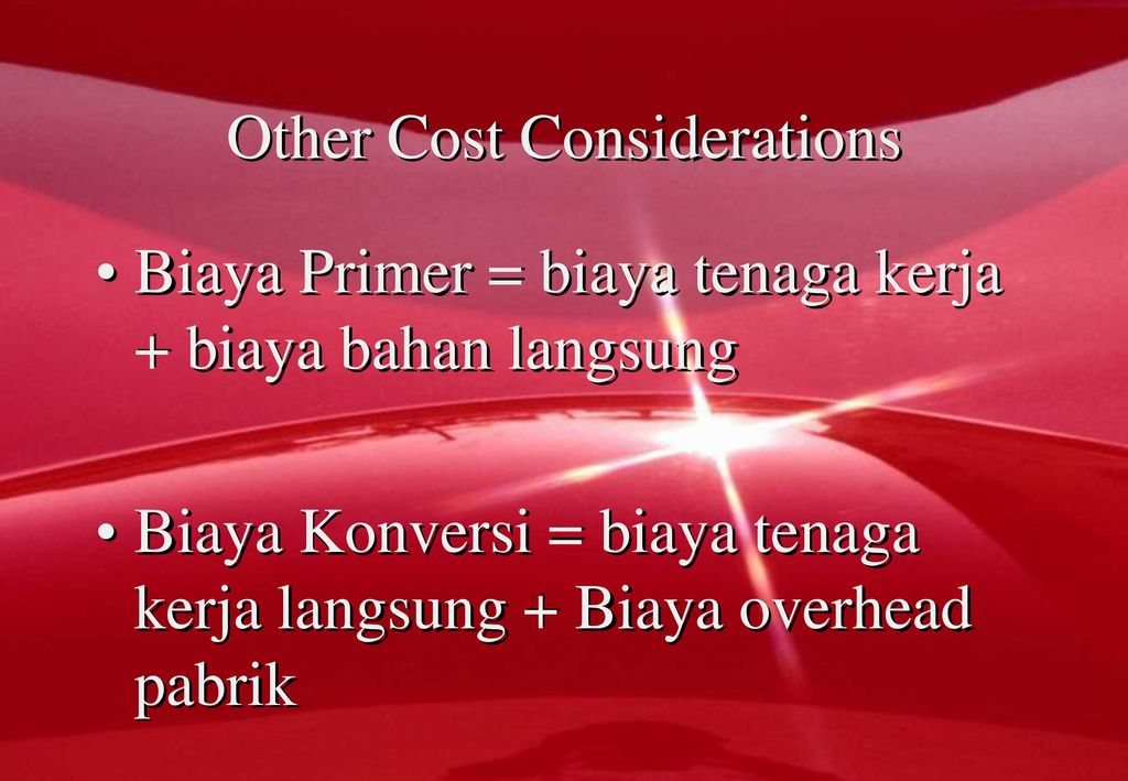 Other Cost Considerations