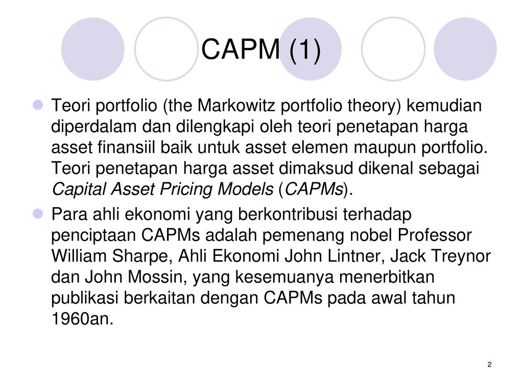capital asset pricing model essay Write an essay regarding the utility of the capm define the capm equation, then discuss strengths, weaknesses, and an assessment of its effectiveness.