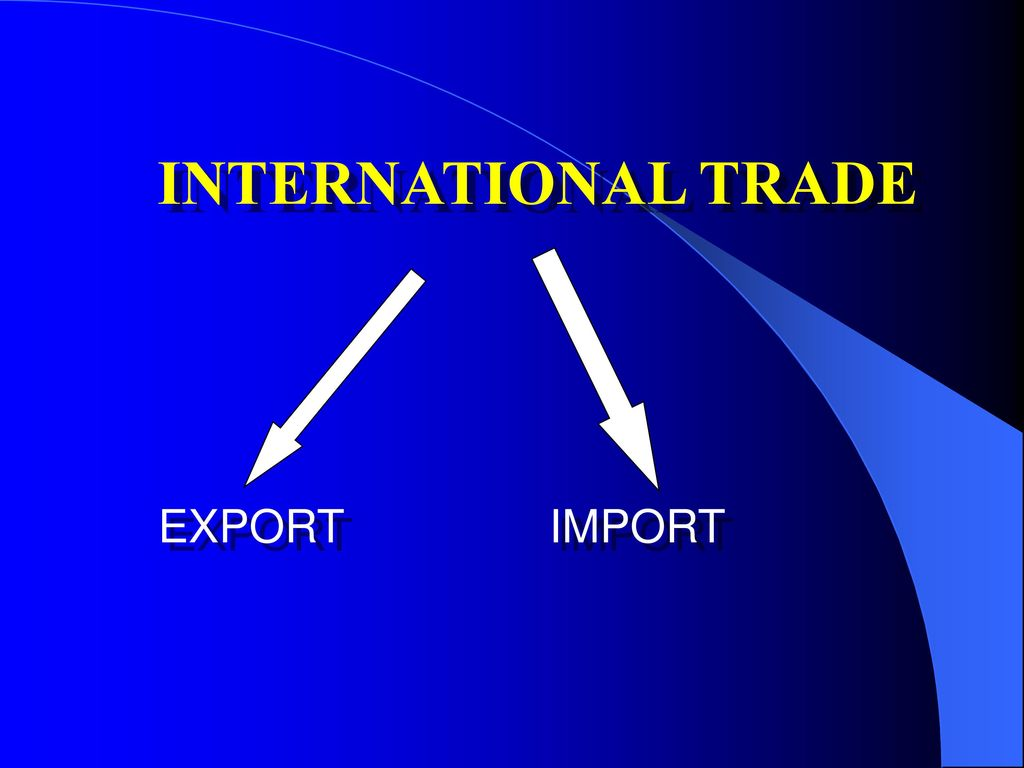 INTERNATIONAL TRADE EXPORT IMPORT