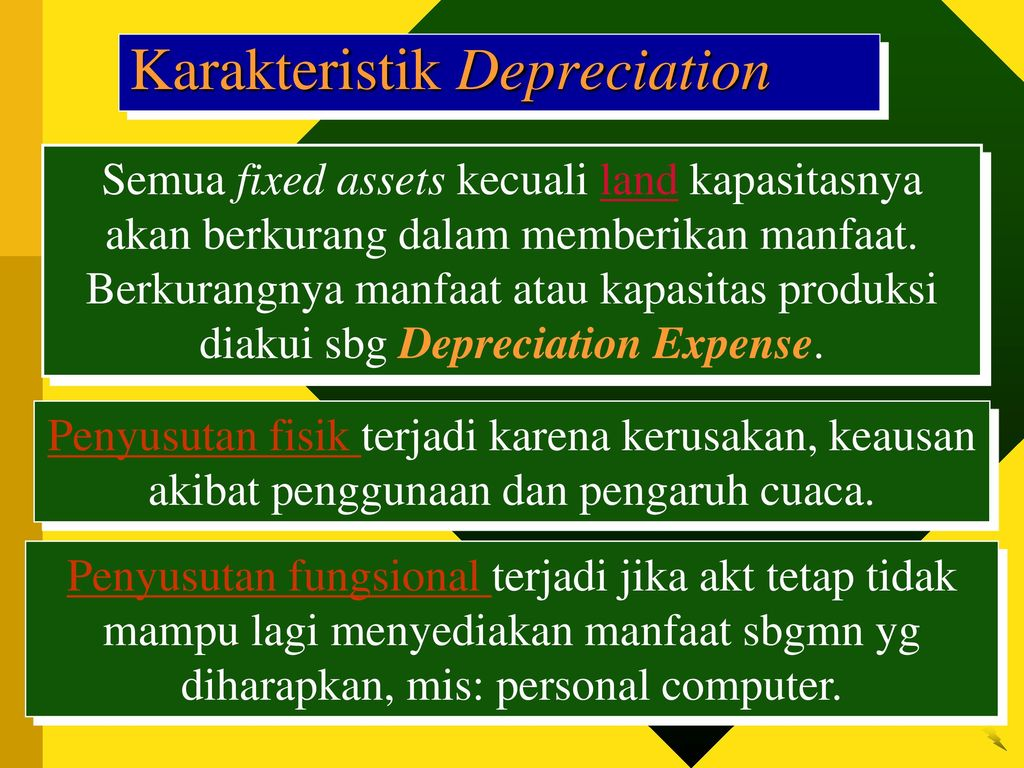 depreciation essay Depreciation and special topics 1 depreciation is an artificial expense that spreads the purchase price of an asset or other property over a.