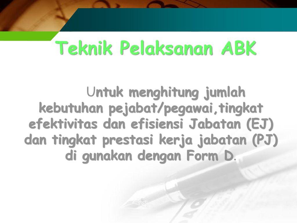 Teknik Pelaksanan ABK