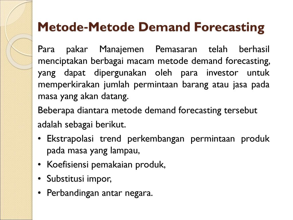 Metode‐Metode Demand Forecasting