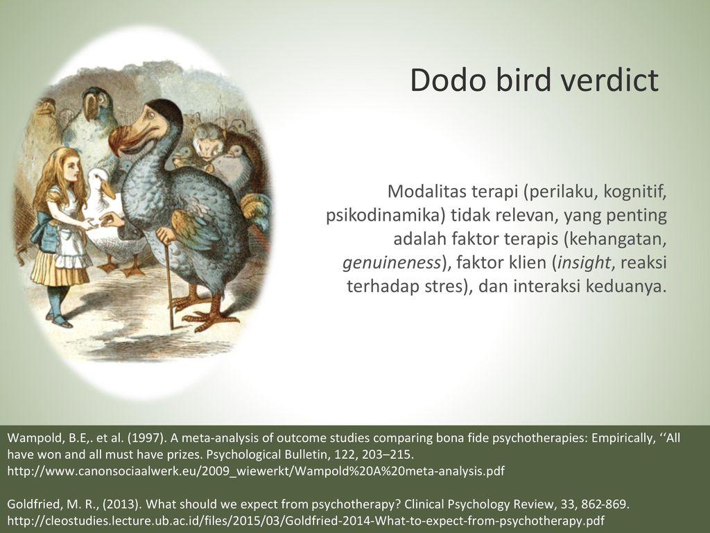 dodo bird verdict