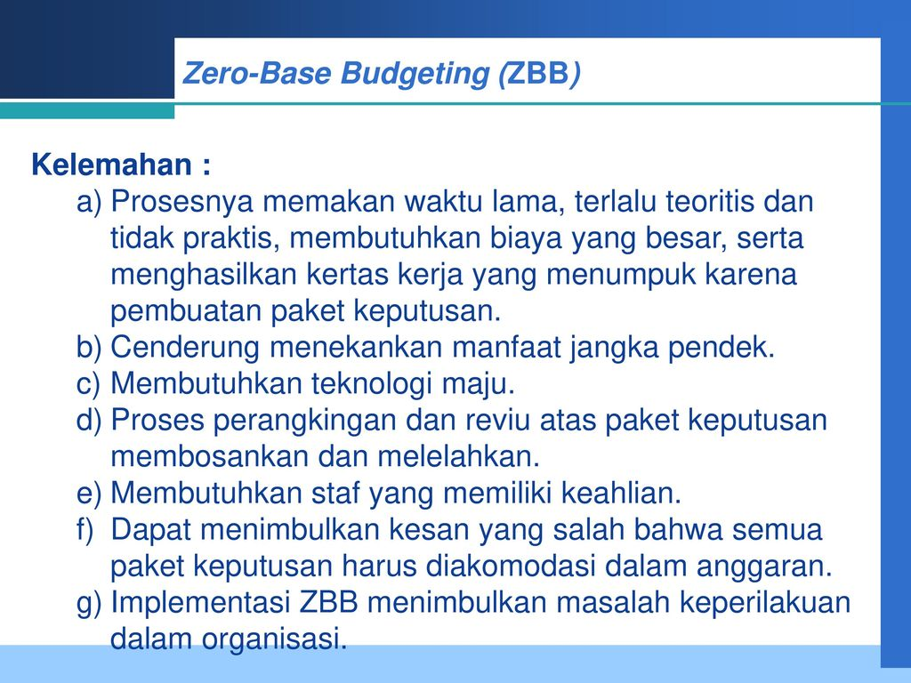 zero based budgeting essay
