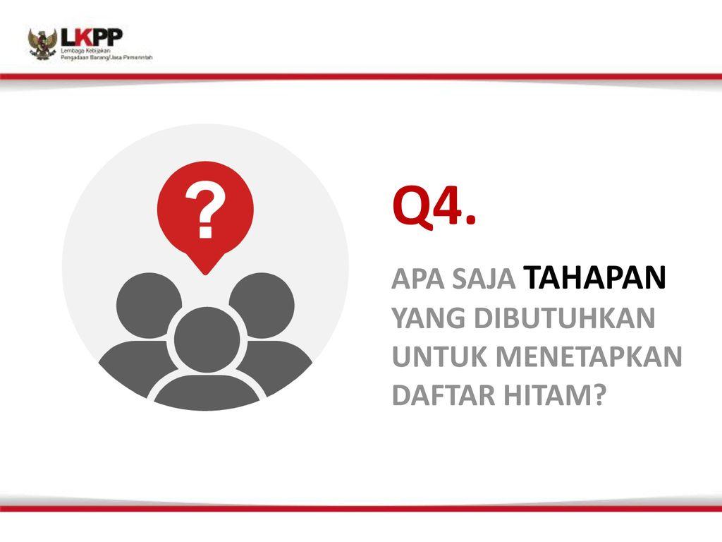 Q4. APA SAJA TAHAPAN YANG DIBUTUHKAN UNTUK MENETAPKAN DAFTAR HITAM