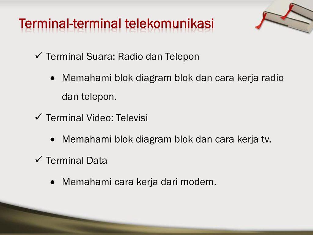 Pengantar telekomunikasi ppt download terminal terminal telekomunikasi ccuart Gallery