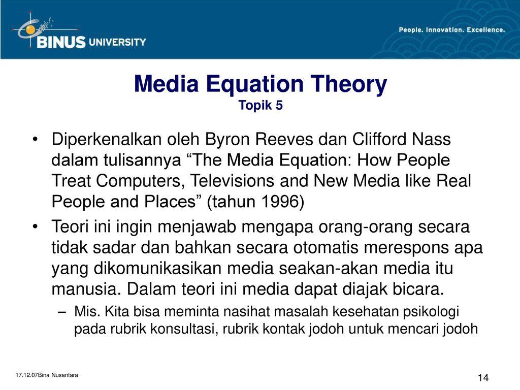 media equation