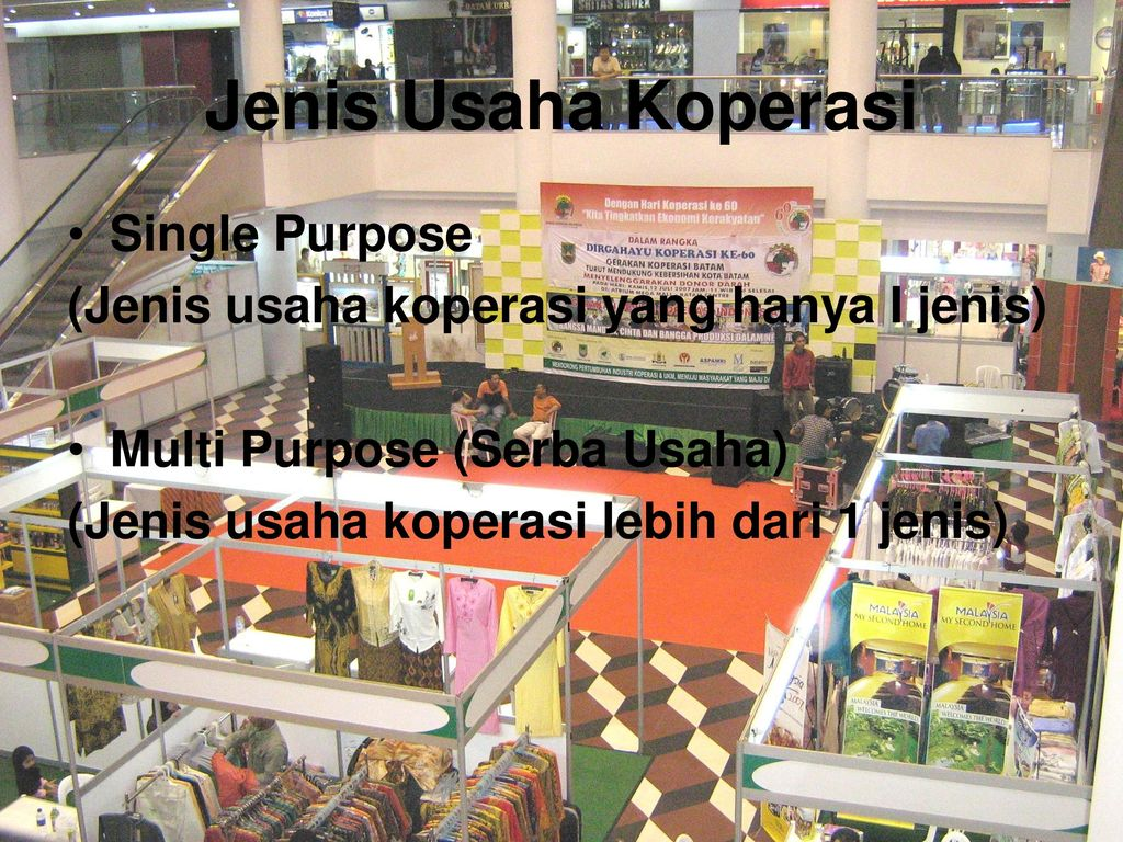 Jenis Usaha Koperasi Single Purpose
