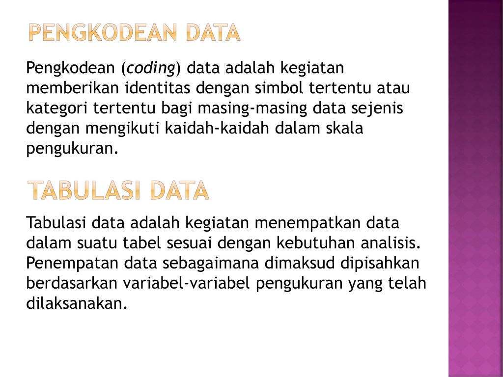 tabulasi DATA Pengkodean DATA