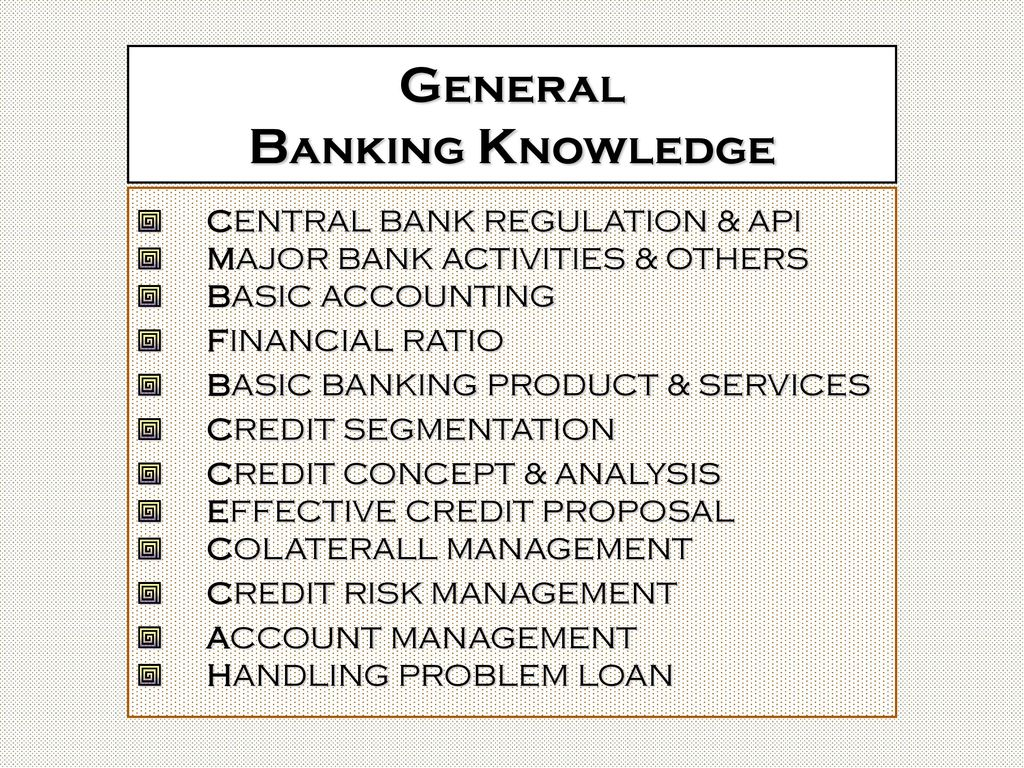 an analysis of general banking activities