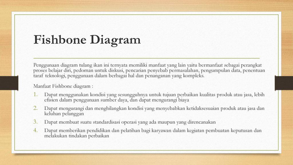 7 tools tujuh alat pengendalian kualitas ppt download fishbone diagram ccuart Choice Image