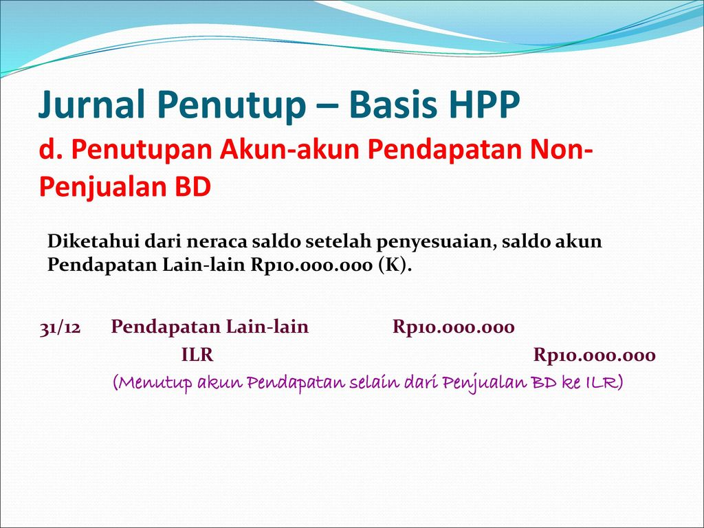 Jurnal Penutup – Basis HPP d