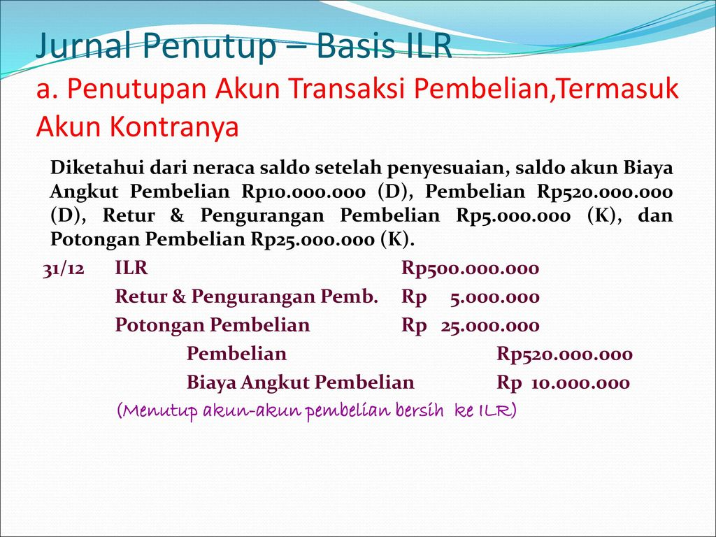 Jurnal Penutup – Basis ILR a